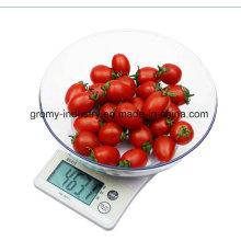 Pantalla LCD Escala de cocina digital con cuenco ABS B10W