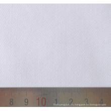 Tejido de sarga de algodón poliéster blanco Bleach T/C