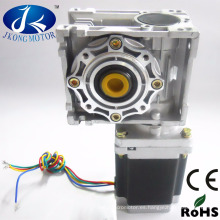 Reductor de gusano del motor del engranaje de gusano de 12V cc con motor paso a paso