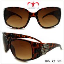 Plástico senhoras óculos de sol com strass (wsp508362)