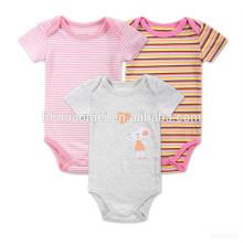 2017 großhandel baby kleidung body baby jumpsuit strampler flattern hülse rosa baby strampler