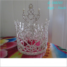 Atacado Fashion pearl grande representação coroas coroas de concurso completo