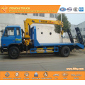 Dongfeng 4x2 platform truck with 3.2 tons crane