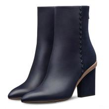 резиновая подошва плюшевые нечеткие высокий каблук стальным носком ботинки