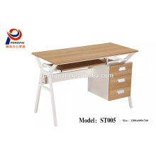 high quality steel frame with melamine top computer office desk office furniture