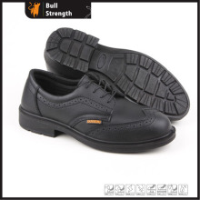 PU Injection Genuine Leather Working Shoe with Steel Toe (SN5280)