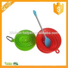 Cabeça de silicone pequena colher com cabo de aço inoxidável