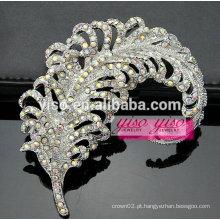 Broche broche de cristais de folha vintage