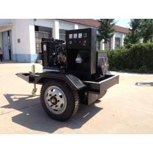 3 ruedas remolque generador 20KW motor Diesel 4B3.9G y 13 KW de potencia bomba