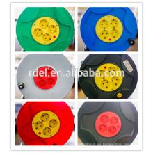 Alta calidad 4 Socket-outlets Tipo europeo Carrete de cable eléctrico de extensión