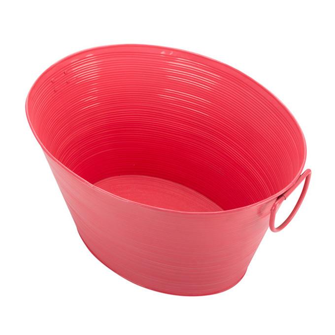 Pink Galvanised Steel Oval Shape Party Tub