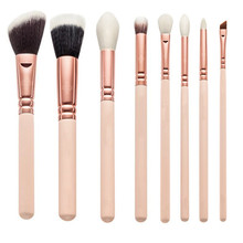 Ensemble de brosse design Rose Golden 8PC (TOOL-81)