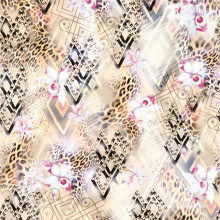 Gran tela de satén de seda de impresión digital Handfeel (TLD-0114)