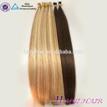 De lujo de calidad superior directos de la fábrica al por mayor Virgen Remy pelo ruso doble dibujado Stick Tip extensión del pelo