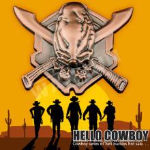 3d Großhandel antiken Messing westlichen Cowboy Gürtelschnalle