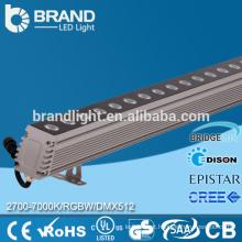 72W RGBW parede arruela DMX512 Wall Washer luz LED AC220V mudança de cor