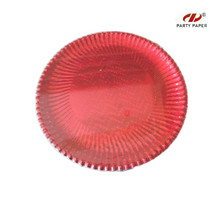12 Inch Red Round Shape Paper Tray