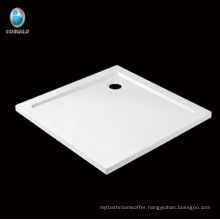 Economical square shape acrylic Corner Shower tray