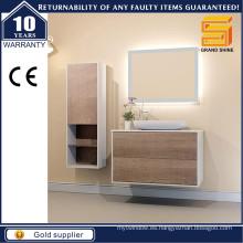 Nuevos gabinetes de baño colgantes de pared de la melamina del diseño para el estilo europeo
