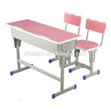 Luoyang steelart mobilier scolaire Double étudiant table rose en bois étudiant chaise de bureau