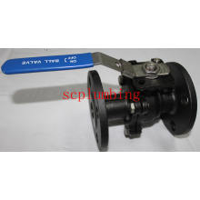 2-PC Flanged Ball Valve with Direct Mounting Pad