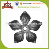 Wrought Iron Cast Steel Leaf For Iron Stairs