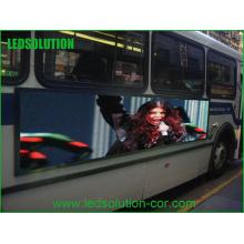 Telão LED de cor completo para exterior P5 para ônibus