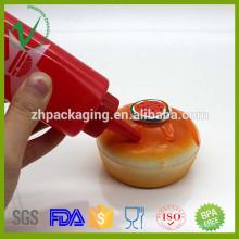 Uso de la cocina de calidad alimentaria botella vacía de plástico de compresión con tapa roscada
