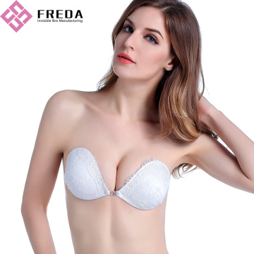 Beyaz Dantel backless Push Up Bra