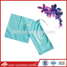 screen printed Customize drawstring sunglasses microfiber bag,logo microfiber eyeglasses bag