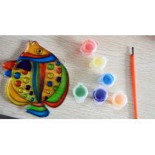 suncatchers, enfants enfants peignent l'huile, huilant peinture suncatchers