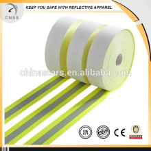High quality flame retardant reflective tape,Nomex flame retardant reflective tape,Yellow flame retardant reflective tape