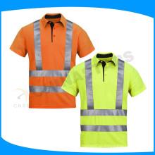 Camisetas baratas del amarillo de la seguridad de la venta al por mayor del precio