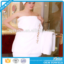 custom embroidery 100% Cotton Hotel Shower Towel