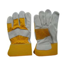 Cow Split Leather Half Reinforced Palm Work Glove-3084