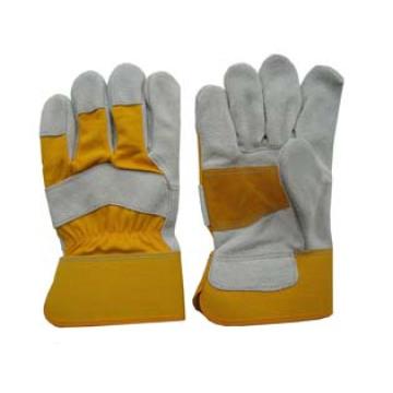 Cow Split Leather Half Reinforced Palm Work Glove-3084