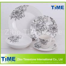 Set de cena de vajilla de porcelana fina de 30 piezas
