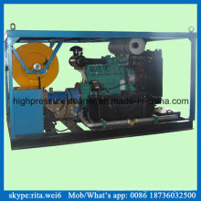 200bar Drain Cleaning Machine High Pressure Diesel Engine Water Jet Cleaner