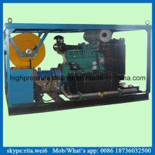 Líquido de limpeza de alta pressão do jato de água do motor diesel da máquina da limpeza do dreno 200bar