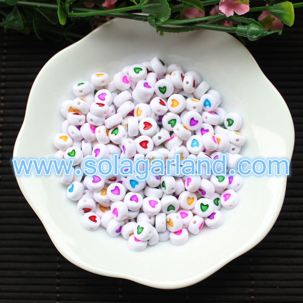 Heart Style Coin Round Beads