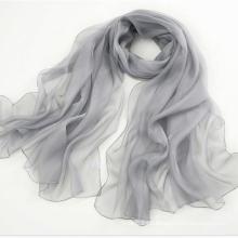 Werbeartikel Pure Silk Schal Long Schal Schal Grau
