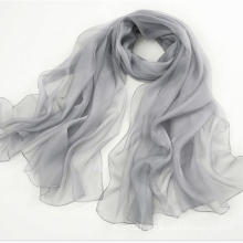 Promotional Products Pure Silk Scarf Long Scarf Shawl Grey