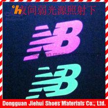 Maßgeschneiderte Wärmeübertragung reflektierendes Logo für Kleidung
