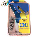 Custom zinc alloy bronze ITUF taekwondo sports medals with own design