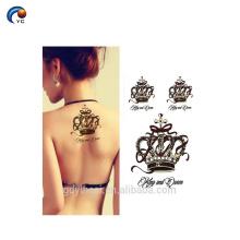 Mais recente personalizado temporária body tattoo sticker, decoração falso flores etiqueta com melhor preço