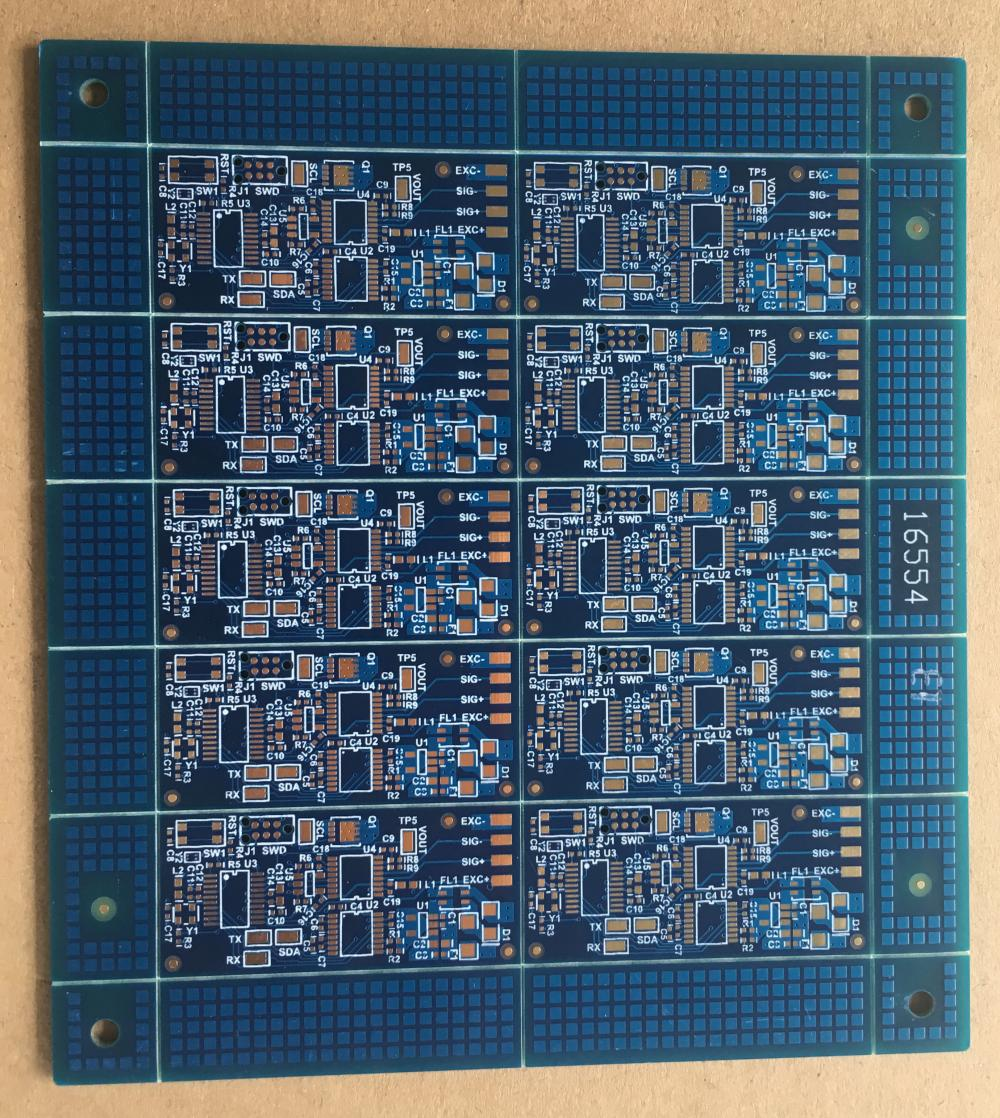 4-laags 1.6mm blauwe soder ENIG cell digitizer PCB