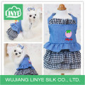 Lovely Designer Dog Clothes Plaid False Two Pieces Summer Pet Clothes Dog Vest Dress