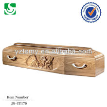 selected Italian wooden coffins with nice carving beds