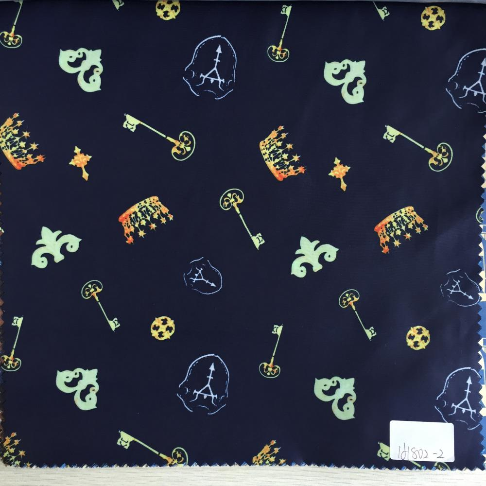 Navy Key Printed Lining