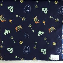 Key And Crown Dark Navy Printed Lining
